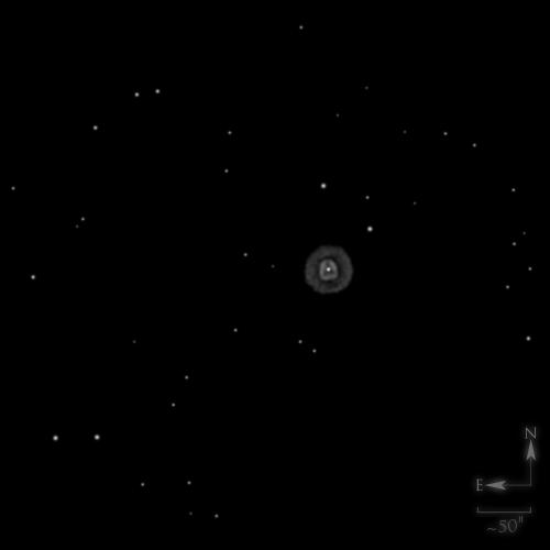 NGC 2392, la nébuleuse de l'esquimau