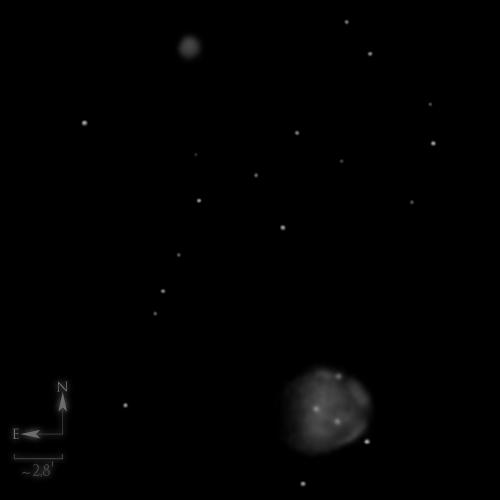 Dessin de NGC 255 & NGC 246