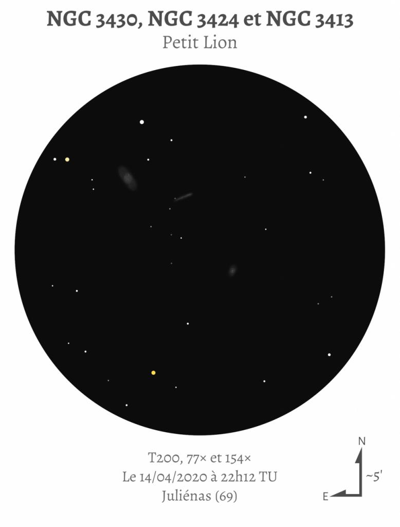 NGC 3430, NGC 3424 et NGC 3413