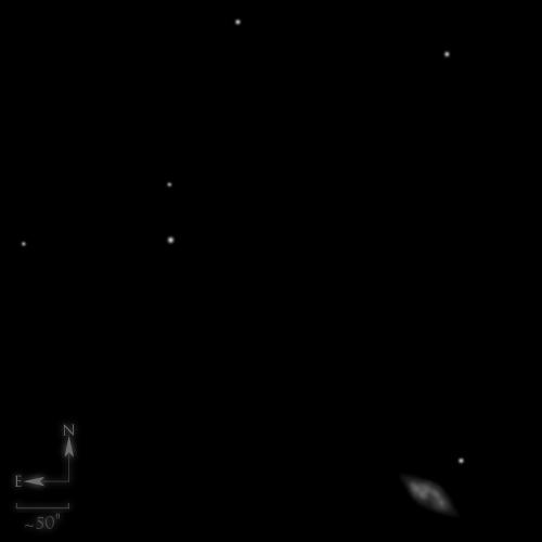 Dessin de NGC 7009, la nébuleuse Saturne