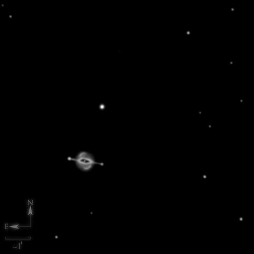 NGC 7009, la nébuleuse Saturne