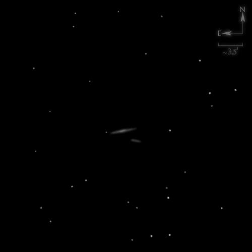 Dessin de NGC 7537 & NGC 7541