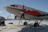 Le DC3, monté sur skis !