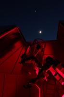 Rapprochement Lune + Jupiter au-dessus du T635 de l'observatoire Sirene