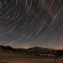 Filé d'étoiles sur le Mont Ventoux