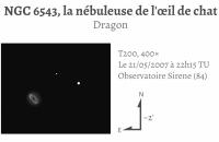 NGC 6543, la nébuleuse de l'œil de chat