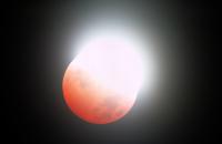 Éclipse totale de Lune, phase partielle