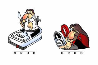 Logos de GRUB (© Karol Krenski)