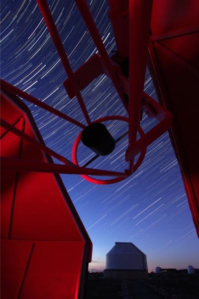Filé d'étoiles sur le T635 de l'observatoire Sirene
